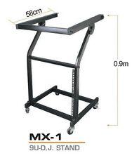 """DJ 9U 19"""" Rack, Studio Platform Console Mixer PA Amplifier Stand (MX-1)"""