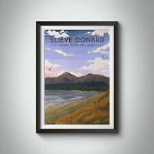 More details for slieve donard northern ireland travel poster - framed - bucket list prints