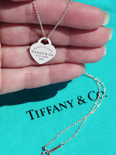 Tiffany & Co Return To Tiffany Cuore TAG Sterling Silver Charm Ciondolo Collana
