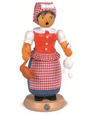 Räucherfrau WITWE BOLTE NEU Räucherfigur Räuchermann Volkskunst Märchen Holz