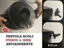 PENTOLA SCOLI ANTIADERENTE CON COPERCHIO COLAPASTA 22 CM SCOLAPASTA MUGNANO