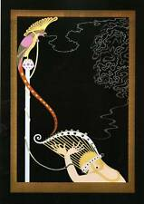 "ORIGINALE VINTAGE Erte Art Deco Print ""incantata Melodia"" FASHION BOOK Piastra"
