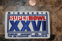 Super Bowl XXVI (26) Minnesota The Metrodome Washington vs Buffalo Football