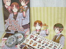 HETALIA Axis Powers ARTE STELLA Art Set Book w/Trump Poster Sticker No Case