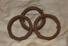3 rolls Primitive 22 gauge Rusty Tin Wire ~ 90 ft total