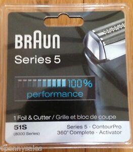 BRAUN SERIES 5 51S 8000 Series Electric Shaver Razor Head Foil Cutter 51 S NEW
