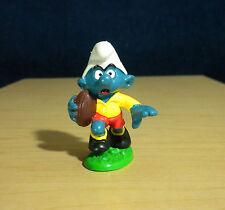 Smurfs Rugby Smurf Football 20065 W Berrie Vintage Figure Toy PVC Figurine Peyo