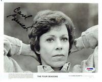 Carol Burnett Signed The Four Seasons Autographed 8x10 B/W Photo PSA/DNA#AB39415
