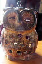 Ceramic Owl Tea Light Holder 13 cm.  Candle holder Birds wildlife......