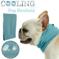 Pets Dog Cooling Bandana Summer Neck Scarf Heat Relief Collar Small Medium Large