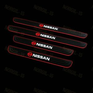 NEW Black Rubber Car Door Scuff Sill Cover Panel Step Protector for Nissan 4PCS