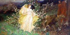 "VENUS & ANCHISES PAINTING GREEK TROJAN MYTHOLOGY ART REAL 9""X18"" CANVAS PRINT"
