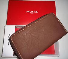 Mundi's Ladies Celebration Double Ziparound Organizer Wallet, Brown