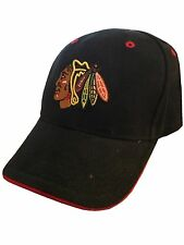 New NWT Youth Boys NHL Chicago Blackhawks Baseball Hat Cap Black