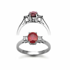 Anniversary White Gold Ruby Fine Rings