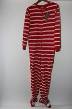 74d1c45350 New ListingNick and Nora sock monkey one-piece red fleece women s pajamas  Small Comfy!