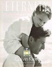 PUBLICITE ADVERTISING 114  1994  CALVIN KLEIN   eau de toilette homme ETERNITY