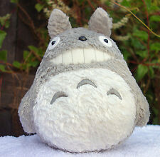 "TOTORO  Stuffed Toy New 9""  Japanese  Studio Ghibli Smiling  Gray plush Doll"