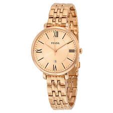 Fossil Jacqueline Rose Dial Rose Gold-tone Ladies Watch ES3435-AU