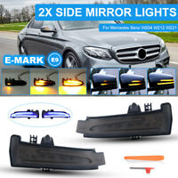 LED Side Mirror Turn Signal Lights Fit Mercedes Benz W204 W212 Dynamic LD2351