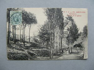 SPAIN, PPC (card Vallvidrera Camino de la Iglesia) to Belgium 1903