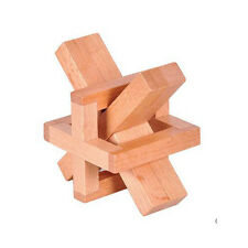 AT 17# Adult 3D Wooden Educational Toy Kongming Luban Lock Brain Teaser Puzzle