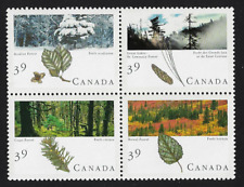 Canada Stamps - Block of 4 - Majestic Forests of Canada #1283@1286 (1286a) - MNH