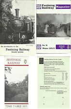 Ffestiniog railway 1971 items; timetable, magazine, introduction
