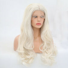 """Lace Front Wig Synthetic Sexy Long Wavy Hair Ash Blonde Heat Resistant Hair 24"""""""