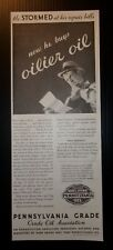 1932 Pennsylvania Crude Oil Association Advertisement