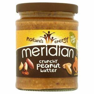 Meridian No Added Salt Crunchy Peanut Butter 280g - Pack of 2