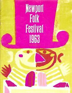 Rare ORIGINAL 1963 NEWPORT FOLK FESTIVAL PROGRAM - COMPLETE