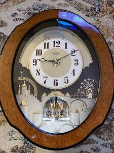 Rhythm Small World Musical Wall Clock Crystal - Timecracker Timebreaker - Songs