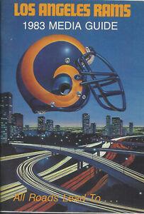 1983 Los Angeles Rams Football Media Guide HOF Eric Dickerson Rookie Year