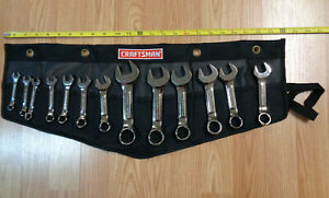 USA Made - CRAFTSMAN INDUSTRIAL - Stubby Wrench Set SAE INCH Polished 13pc short
