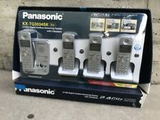 Panasonic Kx-Tg3034Sk Silver Telephone 2.4Ghz Digital Cordless Answering Phone