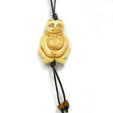 Tibet Bone Happy Lucky Cat Moneybag Pendant Bead
