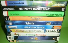9 Stk. PC Spiele Sammlung / Konvolut (Turbo Twist, Syberia,...) + 1 Add-On