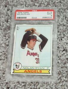 1979 topps # 115  PSA9 NOLAN RYAN ANGELS HI END  25840022