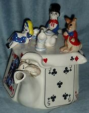 Cardew South West Ceramics Alice In Wonderland Mad hatter's teaparty teapot 1988