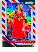 Jonas Valanciunas 2018-19 Panini Prizm RWB Red White Blue Card #93 TOR Raptors