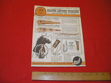March 1961 Hunter Leather Products Catalog Holsters Belts