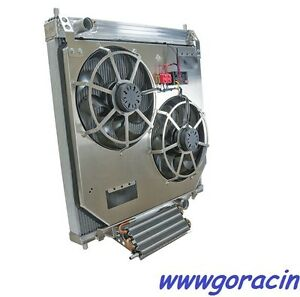 Direct Fit Alum.Radiator w/Electric Fans,Transmission Cooler Ford Super Duty 6.0