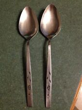OneidaCraft Deluxe Oneida Stainless flatware CAPISTRANO 2 Large Serving Spoons