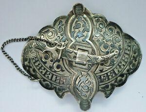 Gürtelschnalle, antik aus 84 Tula Niello Silber Russland um 1900      (Art.4890)