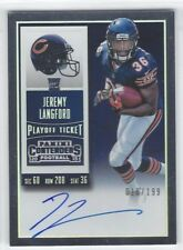 JEREMY LANGFORD 2015 Panini Contenders PLAYOFF TICKET AUTO RC /199 Bears