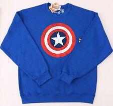 Original Marvel Captain America Men's Blue Sweatshirt NWT Sizes S M L XL