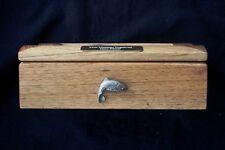Trout Oak Jewellery Box 6x4 Photo Window Personalised Engraving Fishing Gift