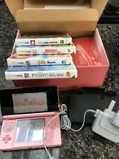 Nintendo 3DS Coral Pink , boxed, immaculate and used a couple of times, 4 games