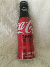 BRAND NEW Coca-Cola Zero Sugar Coke FULL Aluminum Bottle USA 2017 8.5 OZ